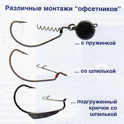 мастерская рыболова офсетный крючок