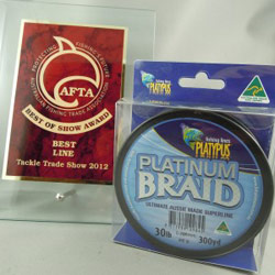 Плетеный шнур Platypus Braid Platinum – лучший на Tackle Trade Association Show в Австралии